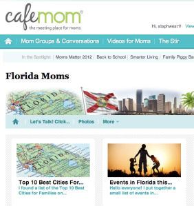 My posts on Cafe Mom