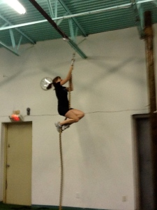 Climbing the Rope in Gym Class