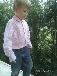 Walker in his after-school outfit