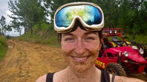 Dirty girl just got dune buggying Fiji-style.