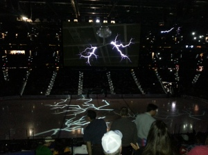 Lightning at the Lightning game