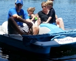 Paddleboating on the lake