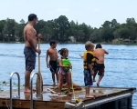 Floating dock people